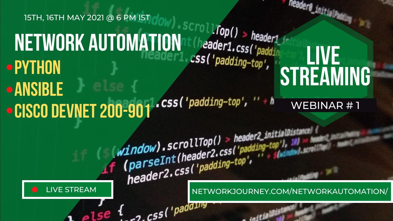 Netwok Automation Webinar